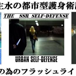 河合主水の都市型護身術~初心者の為のフラッシュライト講座<チャプター12>フラッシュライト実戦護身術訓練動画