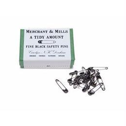 FINE BLACK SAFETY PINS
