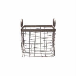 SQUARE BASKET W/HANDLE〈S〉