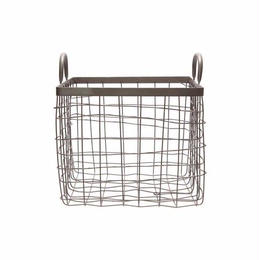SQUARE BASKET W/HANDLE〈M〉