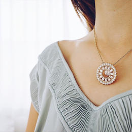 zirconia 2way necklace