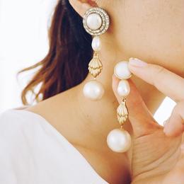 vintage   asymmetry earring pierce