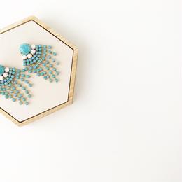 Vintage turquoise fringe earrings
