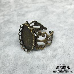 指輪素材 リングパーツ 金属製 フリーサイズ 商品番号R-0002