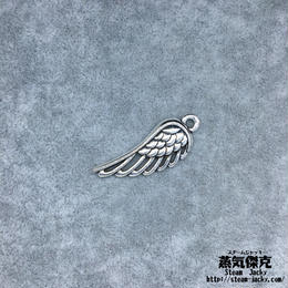 【5点セット】翼風素材 33.66mm x 12.4mm 金属製ハンドメイド素材 商品番号W-0051