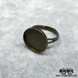 指輪素材 リングパーツ 金属製 フリーサイズ 商品番号R-0009