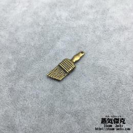 【5点セット】ブラシ風素材 26.9mm x 9mm 金属製ハンドメイド素材 商品番号A2-0050