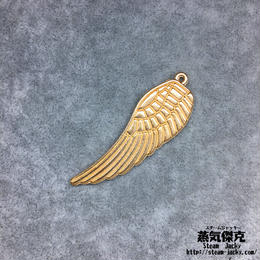 【4点セット】翼風素材 49.7mm x 16.1mm 金属製ハンドメイド素材 商品番号W-0064