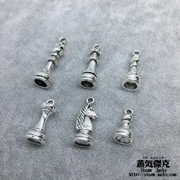チェス風素材セット  金属製ハンドメイド素材 商品番号A2-0008