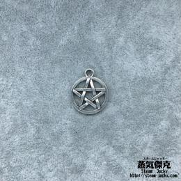 【10点セット】五芒星風ペンダント素材 18.6mm x 15.3mm 金属製ハンドメイド素材 商品番号S-0016