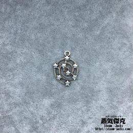 【10点セット】星ペンダント素材 21.2mm x 15.1mm 金属製ハンドメイド素材 商品番号S-0031