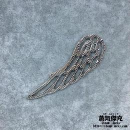 【3点セット】透かし彫り翼風素材 24.4mm x 9.6mm 金属製ハンドメイド素材 商品番号W-0054
