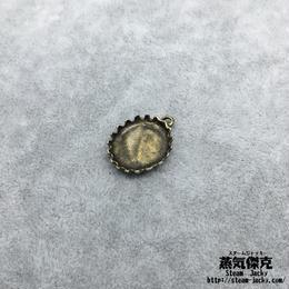 【4点セット】蓋風素材 21.7mm x 16.3mm 金属製ハンドメイド素材 商品番号A2-0051