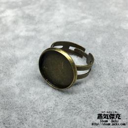 指輪素材 リングパーツ 金属製 フリーサイズ 商品番号R-0012