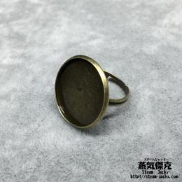 指輪素材 リングパーツ 金属製 フリーサイズ 商品番号R-0011