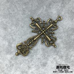 十字架 63.41mm クロス  Cross 金属製 ブラスカラー 商品番号C-0008