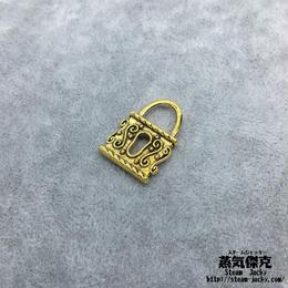 【5点セット】南京錠素材  24.1mm X 16.76mm 金属製ハンドメイド素材 商品番号A2-0015