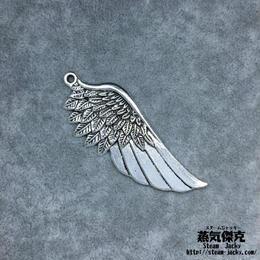 【3点セット】翼風素材 56.4mm x 22.1mm 金属製ハンドメイド素材 商品番号W-0048