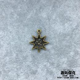 【10点セット】太陽柄ペンダント素材 23mm x 19.8mm 金属製ハンドメイド素材 商品番号S-0034