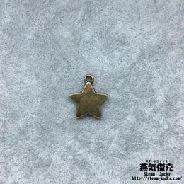 【10点セット】五芒星風ペンダント素材 17.7mm x 15.4mm 金属製ハンドメイド素材 商品番号S-0035