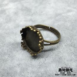 指輪素材 リングパーツ 金属製 フリーサイズ 商品番号R-0005