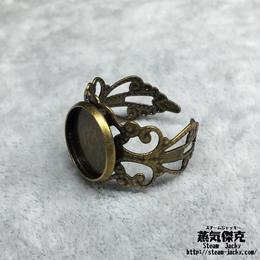指輪素材 リングパーツ 金属製 フリーサイズ 商品番号R-0001