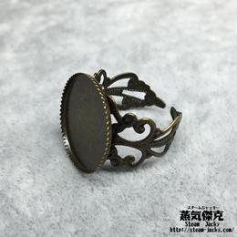 指輪素材 リングパーツ 金属製 フリーサイズ 商品番号R-0004