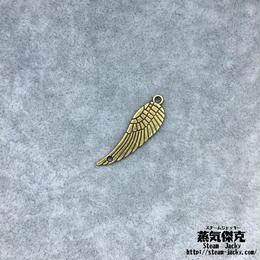 【10点セット】翼風素材 30mm x 9.2mm ツインホール 金属製ハンドメイド素材 商品番号W-0069