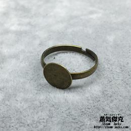 【4点セット】指輪素材 リングパーツ 金属製 フリーサイズ 商品番号R-0006
