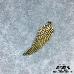 【4点セット】翼風素材 47.6mm x 15.6mm 金属製ハンドメイド素材 商品番号W-0061