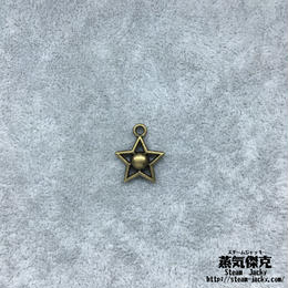 【20点セット】五芒星風ペンダント素材 15.1mm x 12.7mm 金属製ハンドメイド素材 商品番号S-0036