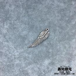 【10点セット】翼風素材 30mm x 9.2mm 金属製ハンドメイド素材 商品番号W-0068