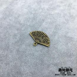 【10点セット】扇子風素材 24.5mm x 13.4mm 金属製ハンドメイド素材 商品番号A2-0005