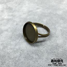 指輪素材 リングパーツ 金属製 フリーサイズ 商品番号R-0010
