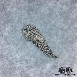 【3点セット】翼風素材 51.1mm x 17.5mm 金属製ハンドメイド素材 商品番号W-0049