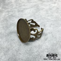 指輪素材 リングパーツ 金属製 フリーサイズ 商品番号R-0003