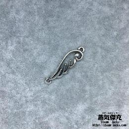 【10点セット】翼風素材 33.1mm x 9.3mm 金属製ハンドメイド素材 商品番号W-0060