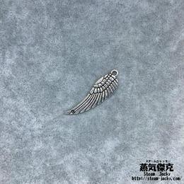 【10点セット】翼風素材 30mm x 9.2mm ツインホール 金属製ハンドメイド素材 商品番号W-0070