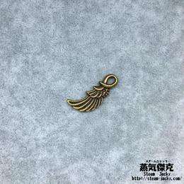 【10点セット】翼風素材 24.7mm x 10mm 金属製ハンドメイド素材 商品番号W-0052