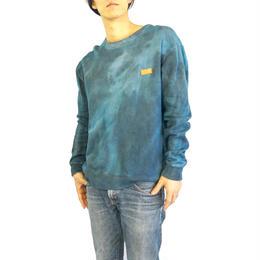 スエットトレーナー 藍染×煤(すす)染