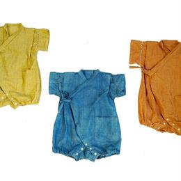 【出産祝い】和服ベビー甚平70cm (藍染 ザクロ染 茜染)ナチュラル3カラー
