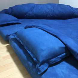 【オーダーメイド】藍染ベッドカバー  シングルサイズ3点《お得セット》