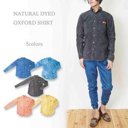 ナチュラルカラー手染め オックスフォードシャツ/5colors