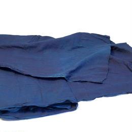 ダブルガーゼ  藍色 藍染【50cm単価】