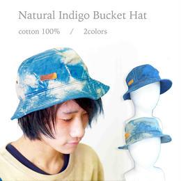 藍染バケットハット コットン100% 2デザイン