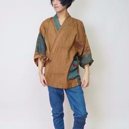 パッチワーク作務衣 (柿渋染2)