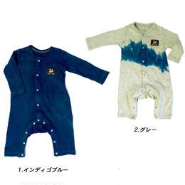 【出産祝い】長袖かえる ベビーロンパース