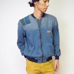 MA-1ジャケット 手染め生地パッチアート