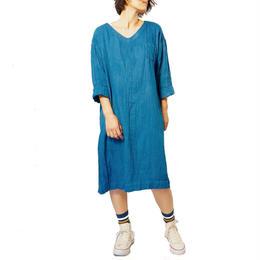 【オーダーメイド】藍染ワンピース ダブルガーゼ生地