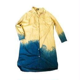 dress shirt  beige ×indigo blue